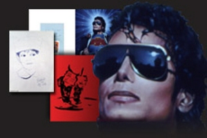 The many painted faces of MJ in the new Official Michael Jackson Opus.