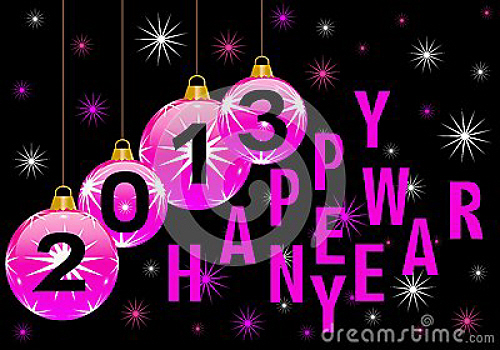 Happy New Year 2013 courtesy of dreamstime