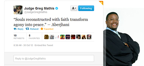 Souls recontructed with faith quote by Aberjhani posted by Judge Greg Mathis