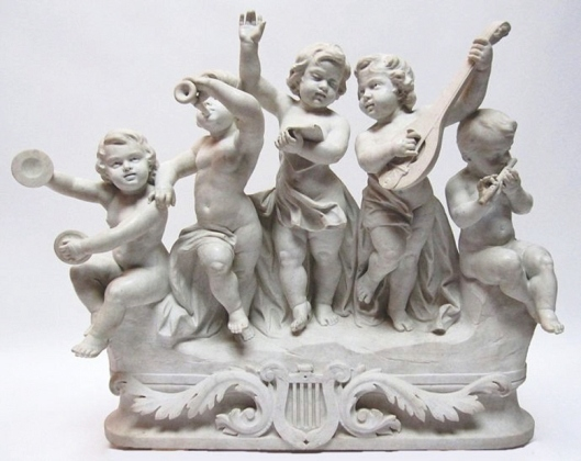 Sculpture of Musical Cherub Angels from hkdcsh photo blog