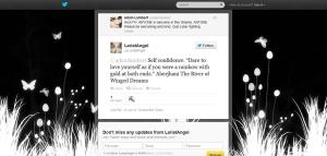 Adam Lambert tweets Dare 2 Love yourself quote by Aberjhani