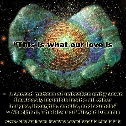 This is what our love is quote by Aberjhani with graphic by JulieKrull and BeautifulMindfulLife