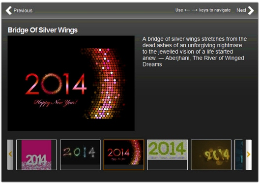 Bridge of Silver Wings 2014 New Year quote by Aberjhani with artwork by Wellness Blog on Speakingtree.in