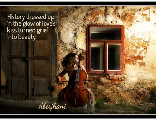 History Dressed up quote by Aberjhani with graphic from AZQuotes