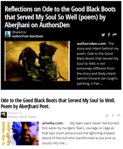 """Reflections on Ode by Aberjhani story in Poetry Lifetimes 2014-10-29"