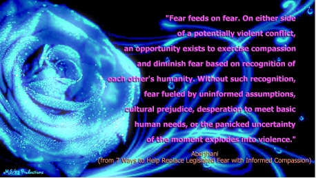Fear feeds on fear quote by Aberjhani with quote grapphic by MS25 Prods