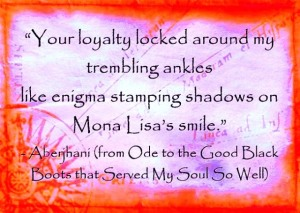 """Your loyalty"" quote by Aberjhani with quote graphic from Bright Skylark LP files"