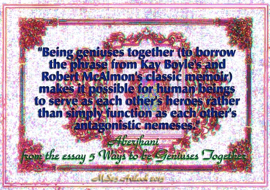 Being geniuses together quote by Aberjhani with MS25 Artlook 2015 typograhic