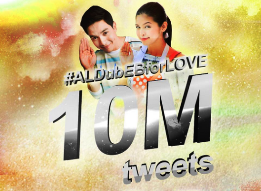 ALDubEBforLOVE 10 Million Tweets hashtag